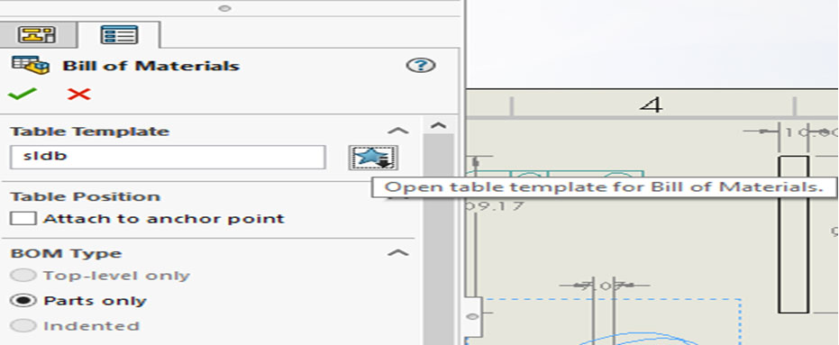 To Create A Solidworks Bill Of Materials Template For Drawings And