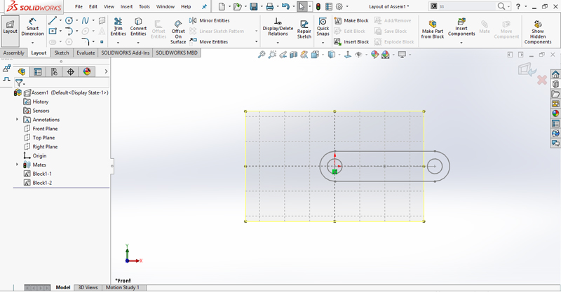 Creating Layout-Based Assembly Design - SOLIDWORKS